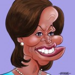 Michelle Obama Caricature by Manas Maisnam