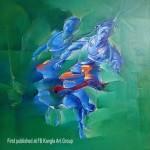 acrylic on canvas~ by golmei gandumpu