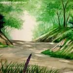 summer-water colour~by samson d laishram